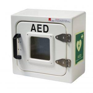 JB04 AED with Defib in white finish