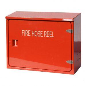 JB54HR Hose reel cabinet in red
