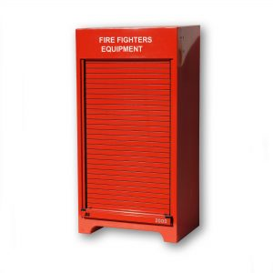 RS150FE Fire fighter's equipment cabinet in red