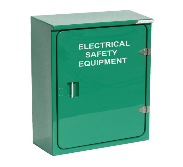 JB02 Electrical safety cabinet in green