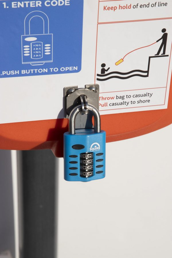 SOS603 with optional combination padlock
