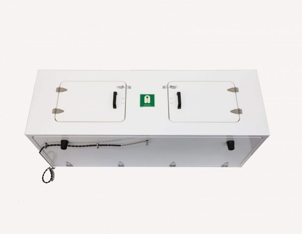 JB76 Overhead lifejacket chest in white