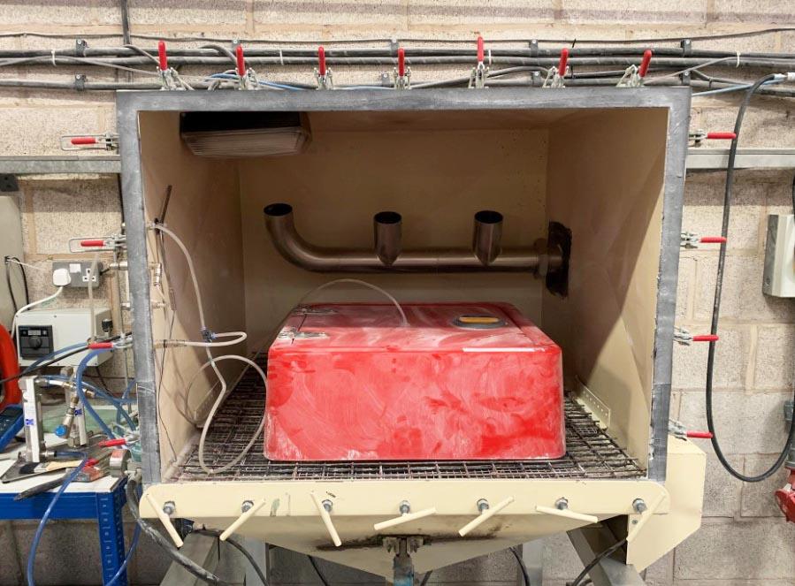 JB80 undergoing dust ingress testing at TUV